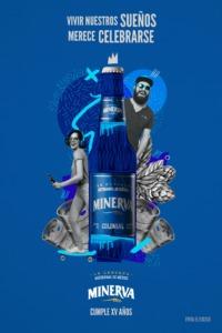メキシコ産 クラフトビール ミネルバ コロニアル 【青】355ml×24本